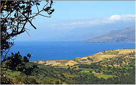 Agios Pavlos: View of the western beaches